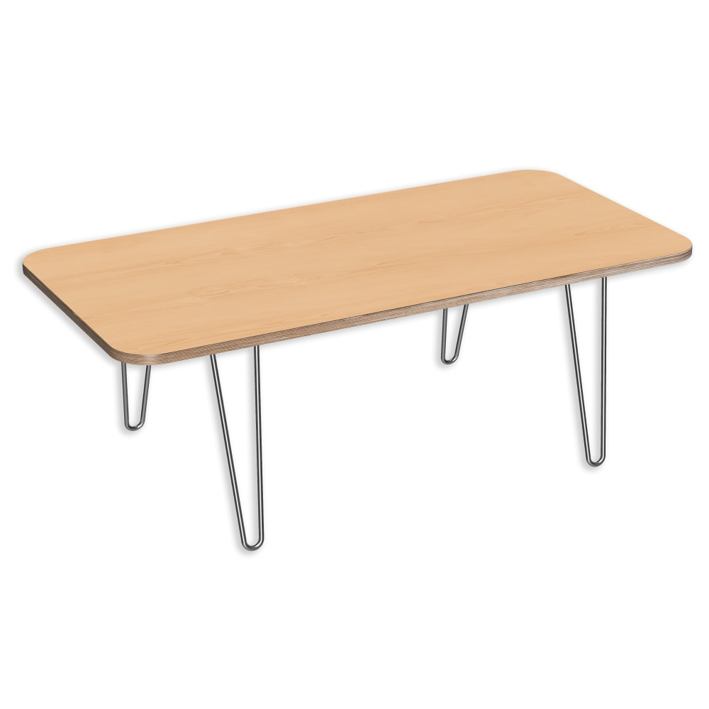 Image for DesignerPly Rectangular Coffee Table Natural Maple 991070MP from SmartMoves Adjustable Height Desks Official Website