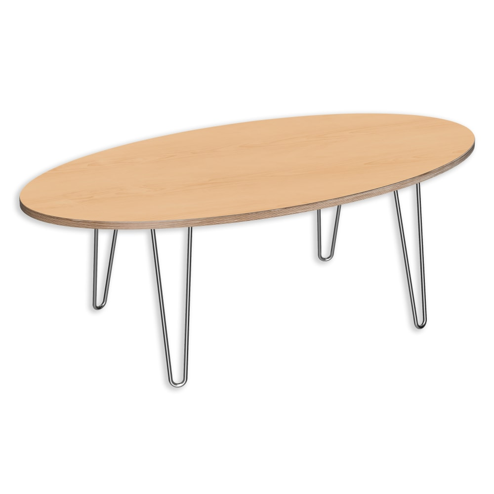 Image for DesignerPly Oval Coffee Table Natural Maple 991071MP from SmartMoves Adjustable Height Desks Official Website