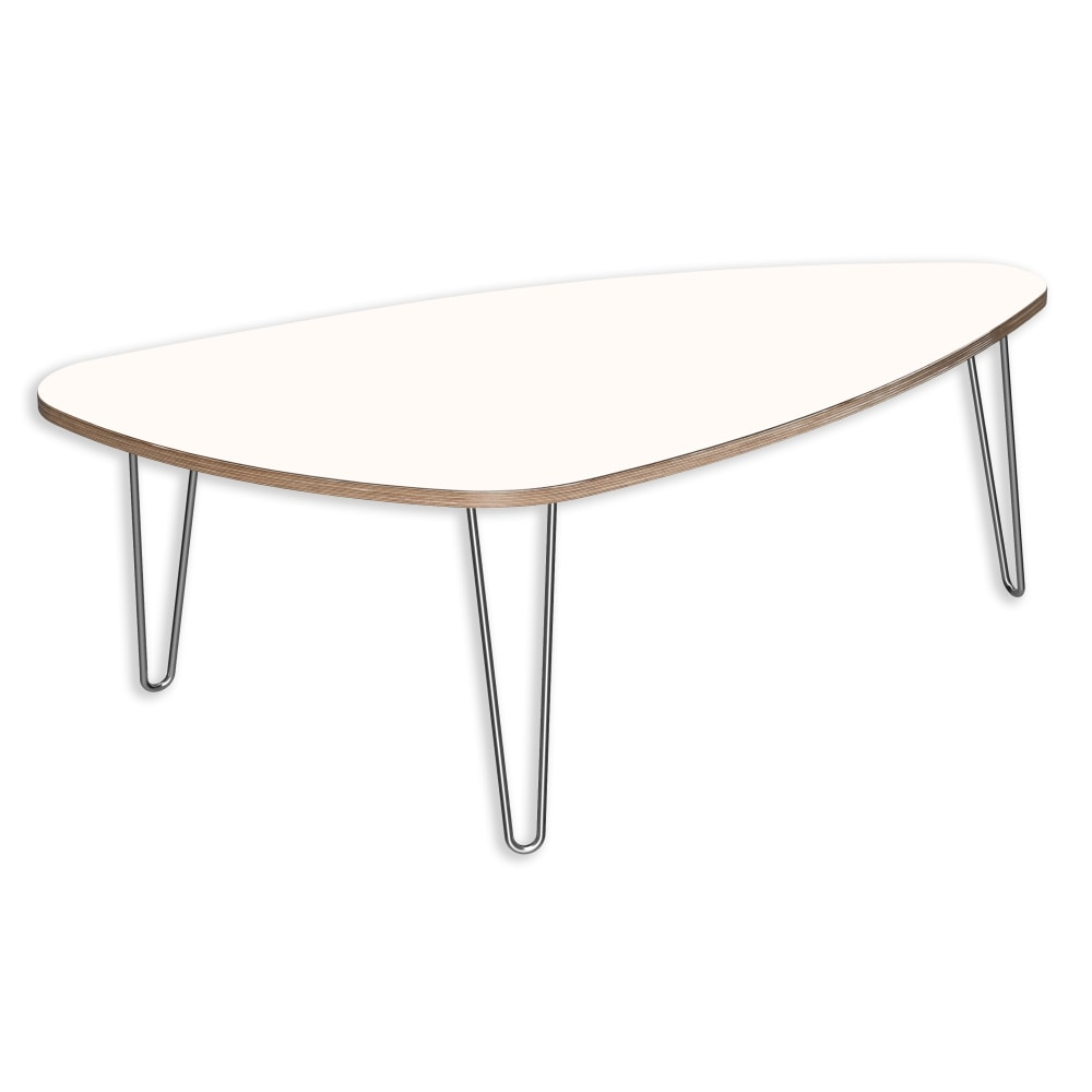 Image for DesignerPly Triangle Coffee Table Designer White 991072DT from SmartMoves Adjustable Height Desks Official Website