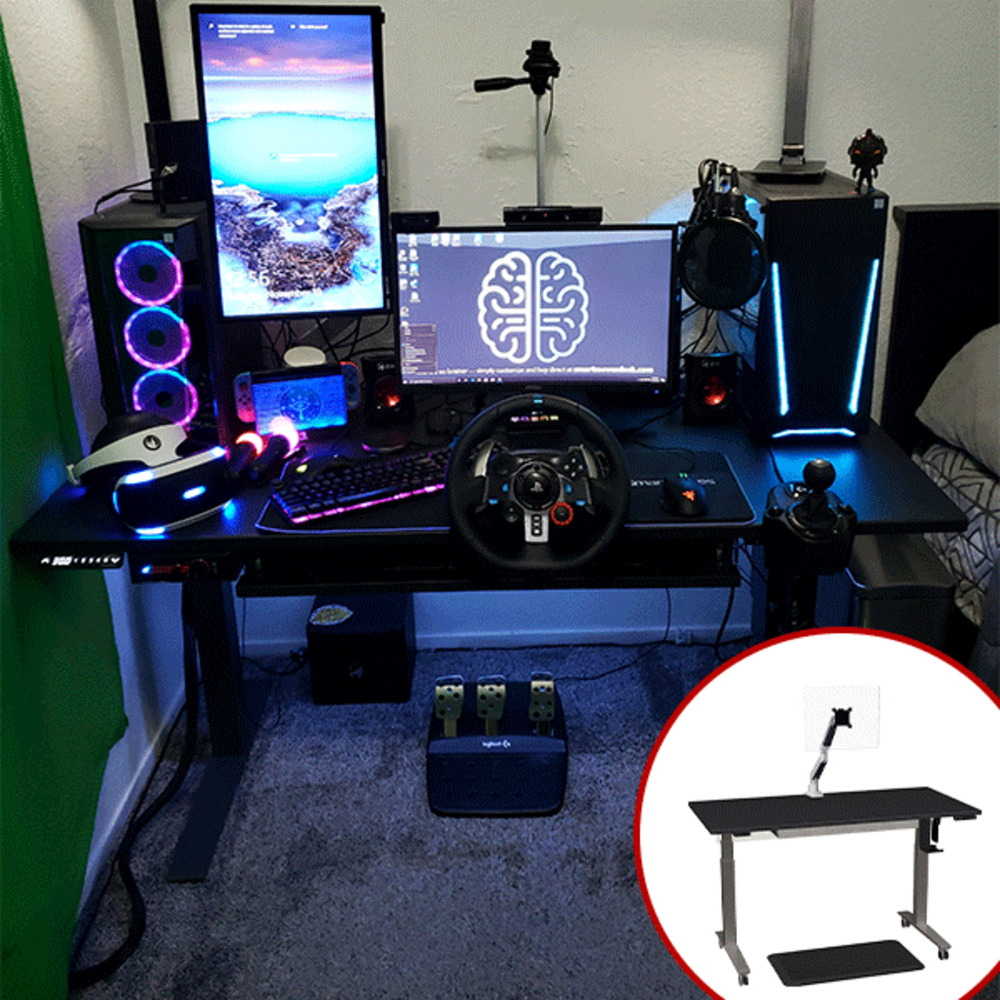 "Image for SmartMoves® The Gamer 60"" Adjustable Height Desk - Starting at $1193 from SmartMoves Adjustable Height Desks Official Website"