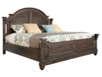 1-2266ML Homestead Louvered King Bed,12266ml,beds,king beds,louvered beds,bedroom