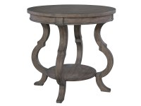 2-3506 Lincoln Park Round Lamp Table with Shaped Legs,23506,tables,lamp tables,round lamp tables,living room
