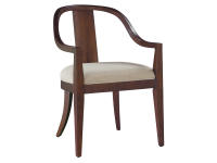 2-4324 Monterey Point Curved Back Arm Chair,24324,chairs,arm chairs,dining chairs,dining room