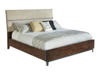 2-4368 Monterey Point King Upholstered Planked Panel Bed