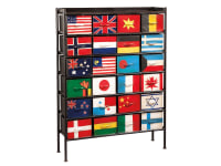 2-7311 24 Flag Bunting Chest,27311,chests,flag chests,bunting chests