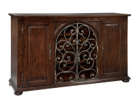 2-7336 Rustic Iron Wine Sideboard,27336,sideboards