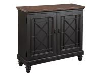 2-7735 Black Chest with Burnished Brown Top,27735,chests,living room,bed room,office