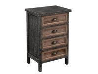 2-7747 Antique Black Metal Chest,27747,chests,metal chests,living room,office,antique chests