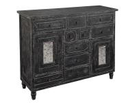 2-7752 Distressed Black Door & Drawer Chest,27752,chests,door chests,drawer chests,bedroom,office,living room