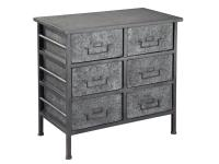 2-7753 Six Drawer Metal Chest,27753.chests,metal chests,drawer chests,office,bedroom,living room