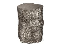 2-7755 Antique Nickel Tree Trunk Stool,27755,stools,office,living room,antique stools