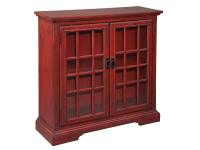 2-7776 Aged Red Hall Chest,27776,chests,hall chests,office,living room,cabinets