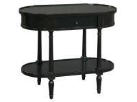 2-7795 Antique Black Oval Chairside Table,27795,tables,chairside tables,living room