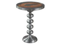 2-7825 Cast Metal and Wood Side Table,27825,tables,side tables,living room