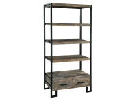 2-7829 office@home Santa Cruz Open Bookcase with Drawer,27829,cabinets,office