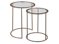 2-8088 Copper Rivet Nest of Tables,28088,tables,nest of tables,living room