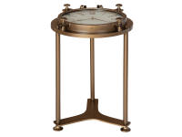 2-8186 Porthole Clock Table,28186,tables,clock tables,living room