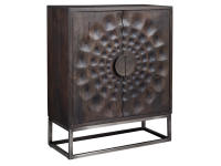 2-8302 Circle Carved Door Cabinet,28302,cabinets,door cabinets,living room