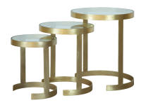 2-8304 Brass Nest of Tables,28304,tables,living room,nest of tables
