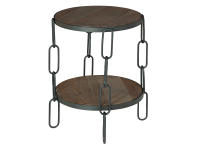 2-8342 Chain Table,28342,tables,living room end tables,lamp tables