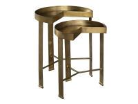 2-8410 Brass Nest of Tables,28410,tables,nest of tables,living room
