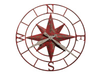 625-633 Compass Rose,625633,clocks,wall clocks,oversized wall clocks,galley wall clocks
