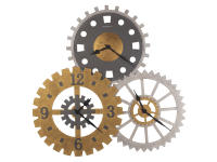625-735 Cogwheel II Gallery Wall Clock,625735clocks,wall clocks,oversized wall clocks