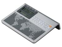 645-761 Atlas World Clock & Calculator,645761,clocks,alarm clocks,calculator,world clocks