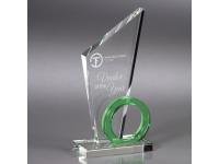 650-069CM Triumph - Green,650069cm,awards,crystal awards