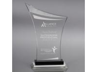 650-089CM Crescendo - Small,650089cm,awards,crystal awards,small