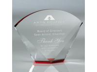 650114CM Arena Red - Large,650114cm,awards,crystal awards,large