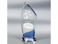 650-147CM Crest Blue - Medium,650147cm,awards,crystal awards
