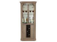 690-047 Piedmont VI Corner Wine & Bar Cabinet,690047,cabinets,corner cabinets,wine,bar