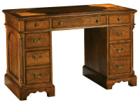 7-1107 Oval Inlay Top Pedestal Desk,71107