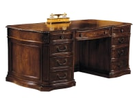 7-9160 Old World Walnut Executive Desk ,79160,Desks