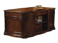 7-9160 Old World Walnut Executive Desk