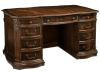 7-9170 Old World Walnut Junior Executive Desk,79170,Desks