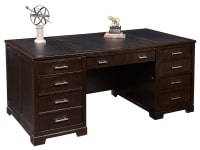 7-9180 Mocha Executive Desk,79180,desks,executive desks