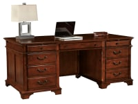 7-9270 Weathered Cherry Executive Desk,79270,Desks