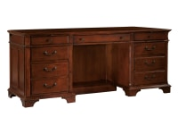 7-9271 Weathered Cherry Executive Credenza,79271,Credenzas