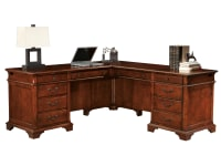 7-9277 Weathered Cherry Executive L-Desk,79277,Desks