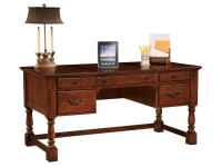 craft office leg desk hekman desks shop for amazing top furniture surprise leather savings
