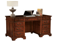7-9280 Weathered Cherry Junior Executive Desk,79280,Desks