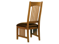 8-4002 Arts & Crafts Side Chair with Leather Seat
