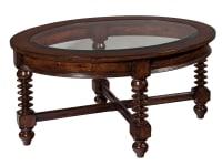 943801CY Canyon Retreat Oval Glass Coffee Table