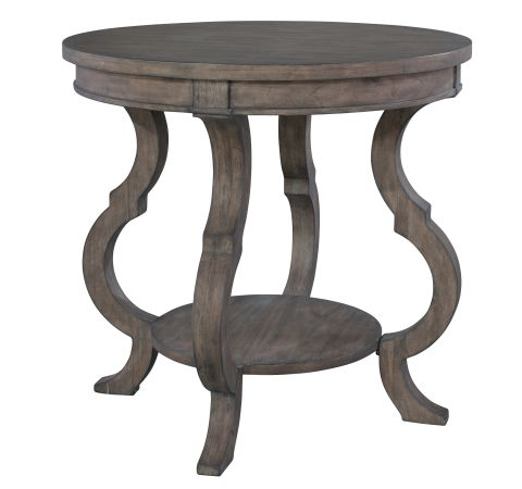 2 3506 Lincoln Park Round Lamp Table With Shaped Legs