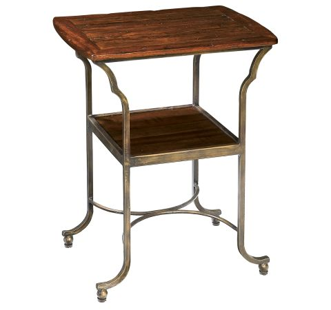 8-7216 Rue de Bac Metal Base Side Table