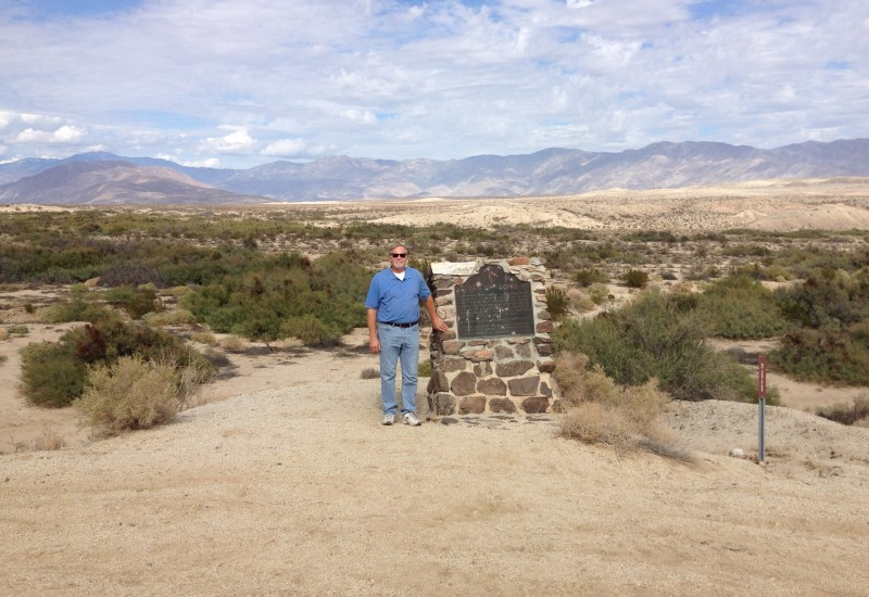 NO. 673 SAN GREGORIO - The marker is up on a hill