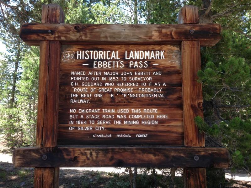 NO. 318 EBBETTS PASS ROUTE - Private marker