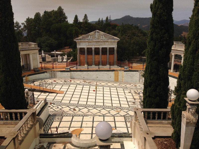 NO. 640  HEARST SAN SIMEON - Pool under reconstruction